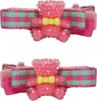 Jewelz Bright Magenta And Light Green Barret Clips for Kids Hair Clip(Multicolor) - Price 127 40 % Off