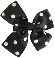 NeedyBee Flower Hair Clip(Black, White)