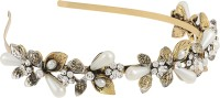Mansiyaorange Latest wedding fashionable Trendy Tiara wedding collection Hair Accessory Set(Gold) - Price 265 82 % Off