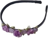 Viva Fashions Roses and Ribbons Hair Band(Purple)