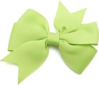 NeedyBee Girls Green Grosgrain Ribbon Bow Toddlers Baby Hair Clip(Green)