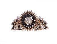 Mansiyaorange party Wedding casual wear fancy Golden pin accessories Hair Clip(Black)