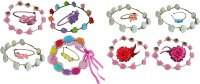 Twinkle Glam FloraNFashion Hair Band Hair Accessory Set(Multicolor)