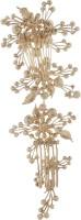 Mansiyaorange Latest wedding tiara fashionable Trendy wedding collection Hair Accessory Set(Gold)