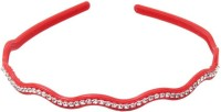 One Personal Care Princess Colorful Diamond Studded Casual Wear Hair Accessory Set, Hair Band(Red) - Price 99 50 % Off
