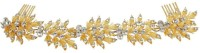 Muchmore Exclusive American Diamond Stones Work Beautiful Hair Clip / Pin For Girls & Women Hair Clip(White)