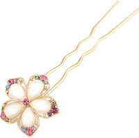 Young & Forever Crystal Flowers Princess Hair Pin(Gold) - Price 465 76 % Off
