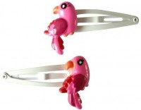 NeedyBee Bird Pack of Two Baby Snap Hair Clip(Pink)