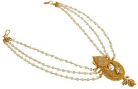 Muchmore Beautiful South Indian Fashion Pearl Chain Work Hair Juda Pin For Women & Girls Wedding Wear Gift Jewelry Hair Pin(Multicolor)