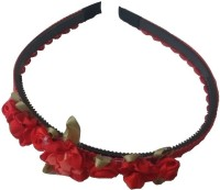 Viva Fashions Roses and Ribbons Hair Band(Red)