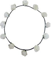 FashBlush Forever New Pretty Glam Roses Flower Leaf Tiara/Crown Head Band(White, Green) - Price 249 83 % Off