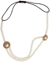Young & Forever Chic Stylish White Pearls Double Layer Head Band(Gold) - Price 565 85 % Off