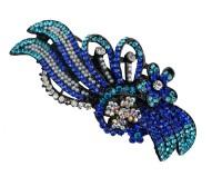 Taj Pearl Designer Hair Clip(Black)