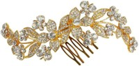 Muchmore 22k Golden Polished Work Charming Hair Clip For Women & Girls Gift Jewelry Hair Clip(White)