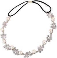 Young & Forever Bling Princess Crystal & Pearl Head Band(Silver, Black) - Price 655 78 % Off