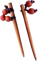 CraftEra Wooden Stick Hair Pin(Brown)