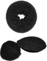 HomeoCulture Medium Donut Volumizer Hair Accessory Set(Black) - Price 146 70 % Off
