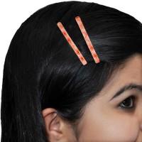 Maayra Classy Contemporary Tic Tac Clip(Orange)
