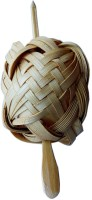 CraftEra Wooden Clip Hair Clip(Brown)