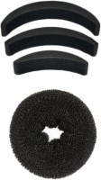 SENECIO� Medium Donut Bun Maker With Bumpits Celebrity Look 4Pc Hair Accessory Set(Black) - Price 139 76 % Off