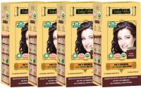 Indus Valley 100% Organic Botanical Light Brown- Set of 4 Hair Color(Light Brown)