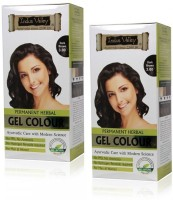 Indus Valley Permanent Herbal Hair Colour Dark Brown 3.0 Kit Set of 2 Hair Color(NA)