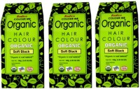 Radico Certified Organic & 100% Natural- SOFT BLACK ( Set Of 3 Boxes ) Hair Color(Soft Black)