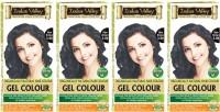 Indus Valley Organically Natural Gel Dark Brown 3.00 (Set of 4) Hair Color(Dark Brown 3.00)