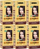 Indus Valley 100% Organic Botanical Soft Black (Pack of 6) Hair Color(Soft Black)