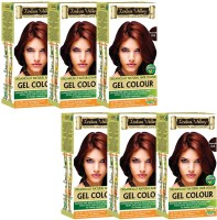 Indus valley Organically Natural Gel Burgundy 3.6 (Pack of 6)- PPD Free Hair Color