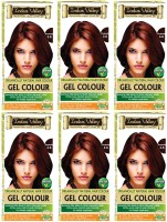 Indus Valley Organically Natural Gel Burgundy 3.6 (Pack of 6)- PPD Free Hair Color(Burgundy 3.6)