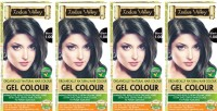 Indus Valley Organically Natural Extra safe Gel Black 1.00 (Pack of 4) Hair Color(Black 1.00)