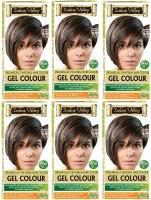 Indus Valley Organically Natural Gel Medium Brown 4.00 (Pack of 6) Hair Color(Medium Brown 4.00)
