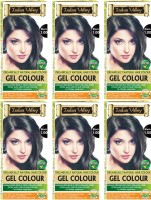 Indus Valley Organically Natural Gel Black 1.00 Herbal for Moustache & Beard (Pack of 6) Hair Color(Black 1.00)