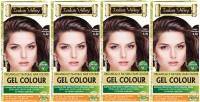 Indus Valley Organically Natural Gel Copper Mahogany (Set of 4) Hair Color(Copper Mahogany 5.40)