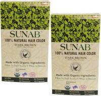 Radico Sunab Herbal Dark Brown 100g Hair Color(Dark Brown)