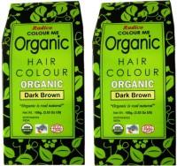 Radico Certified Organic Dark Brown ( Twin Pack ) Hair Color(Dark Brown)