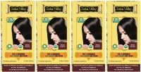 Indus Valley 100% Organic Botanical Indus Black- Pack of 4- Ammonia Free Hair Color(Indus Black)