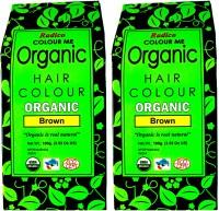 Radico Certified Organic -Brown (Twin Pack) Hair Color(Brown)