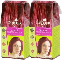 L'amour Paris Naturals Burgundy 6.60 - Twin Set - Permanent Cream Hair Color(Burgundy 6.60)