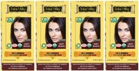 Indus Valley 100% Organic Botanical Soft Black (Pack of 4) Hair Color(Soft Black)