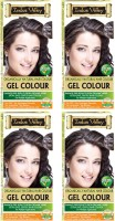Indus Valley Organically Natural Gel Light Brown 5.0 (Pack of 4) Hair Color(Light Brown 5.0)