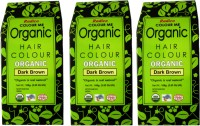 Radico Certified Organic- Dark Brown( Set Of 3 Boxes ) Hair Color(Dark Brown)