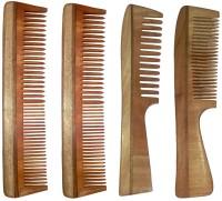Ginni Marketing Combo of 4 Neem Wood Combs (regular + regular and detangler handle)(7.5 Inches) - Price 399 83 % Off
