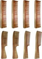 Ginni Marketing Combo of 8 Neem Wood Combs (regular + regular and detangler handle) - Price 799 83 % Off