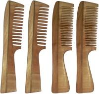 Ginni Marketing Combo of 4 Neem Wood Combs ( medium and baby detangler) - Price 490 78 % Off