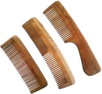 UCS Uncommon Stuffs Family Set Of Neem Wood Combs (Set Of 3 Combs)