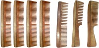 Ginni Marketing Combo of 7 Neem Wood Combs (regular+handle) - Price 699 83 % Off