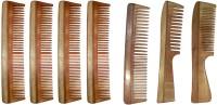 Ginni Marketing Combo of 7 Neem Wood Combs (regular+handle) - Price 699 83 % Off