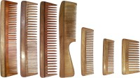 Ginni Marketing Combo of 7 Neem Wood Combs (regular + regular detangler+regular and detangler handle + 4 Inches, 5 Inches and baby detangler) - Price 649 84 % Off